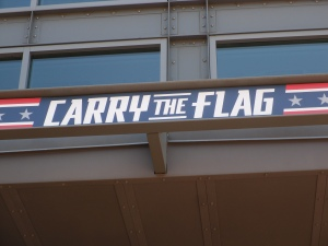 "Who better to ""Carry the flag"""